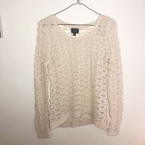 NWT American Eagle Ivory Cable Knit Sweater